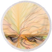 Landscape Of Fantasy Round Beach Towel