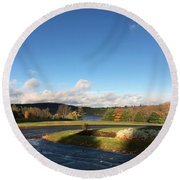 Landscape Skyview Early Morning Poconos Pa Usa America Travel Tour Vacation Peaceful Round Beach Towel