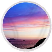 Landscape - Sunset Round Beach Towel