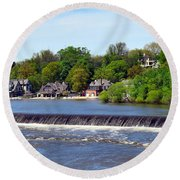 Landscapes In Philly Round Beach Towel