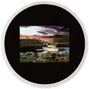 Lanes Cove Gloucester Round Beach Towel