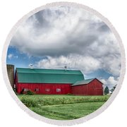 Langford Barn  7d06202 Round Beach Towel