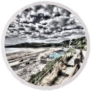 Langland Bay Painterly Round Beach Towel