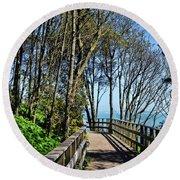 Langmoor-lister Gardens Round Beach Towel
