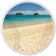 Lanikai Beach 2 - Oahu Hawaii Round Beach Towel
