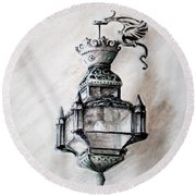 Lantern In Broad Daylight Round Beach Towel