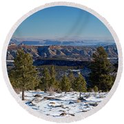 Larb Hollow Overlook Round Beach Towel