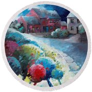 L'arbre Rouge Round Beach Towel