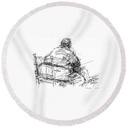 Large Guy Round Beach Towel