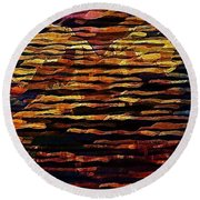 You See What You Want To See Round Beach Towel by David Manlove