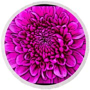 Large Pink Dahlia Retro Style Round Beach Towel