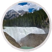 Larger View Of Wapta Falls In Yoho Np-bc Round Beach Towel