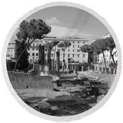 Largo Di Torre - Roma Round Beach Towel