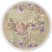 Larkspur Design Round Beach Towel