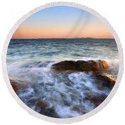 Larrabee Sunset Round Beach Towel