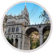 Las Lajas Sanctuary Round Beach Towel