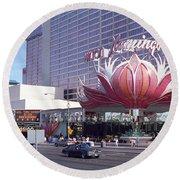 Las Vegas 8 Round Beach Towel