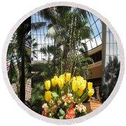 Las Vegas Attrium Architecture N Interior Decorations Casinos Resorts Hotels Flowers Sky Green Signa Round Beach Towel