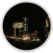 Las Vegas Lights2 Round Beach Towel