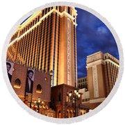 Las Vegas - Venetian Hotel Round Beach Towel