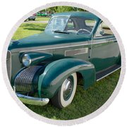 Cadillac Lasalle In Style Round Beach Towel