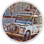 Lasseter Land Rover Round Beach Towel