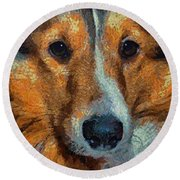 Lassie - Rough Collie Round Beach Towel
