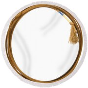 Lasso Lariat  Round Beach Towel by Olivier Le Queinec
