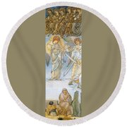 Last Judgement Round Beach Towel
