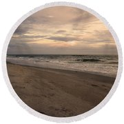 Last Minutes Of The Day Round Beach Towel