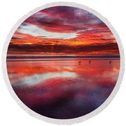 Last Moments Round Beach Towel