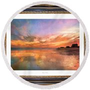 Lasting Moments Round Beach Towel