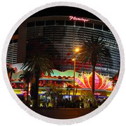 Las Vegas - The Flamingo Panoramic Round Beach Towel