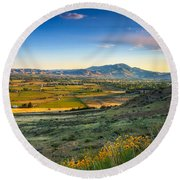 Late Spring Time View Round Beach Towel by Robert Bales