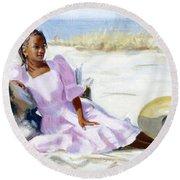 Latesha Round Beach Towel