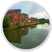 Latimer And Crick Building In Northampton Round Beach Towel