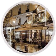 Latin Quarter In Copper Round Beach Towel