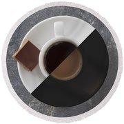 Latte Or Espresso Round Beach Towel