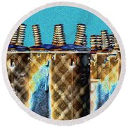 Lattice Round Beach Towel
