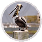 Laughing Pelican Round Beach Towel