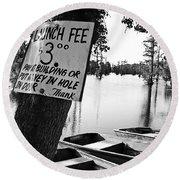 Launch Fee Round Beach Towel by Scott Pellegrin