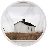 Laundress House At American Camp Round Beach Towel