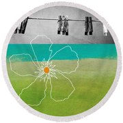Laundry Day Round Beach Towel