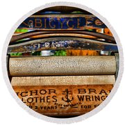 Laundry The Clothes Wringer Round Beach Towel