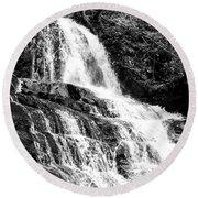 Laurel Falls Smoky Mountains 2 Bw Round Beach Towel