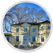 Laurel Hill Mansion Round Beach Towel