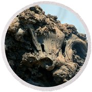 Lava Formations Round Beach Towel