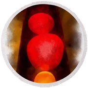 Lava Lamp Photo Art 04 Round Beach Towel