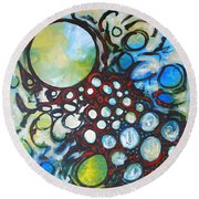 Lava Lamp Studio No.1 Round Beach Towel