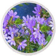 Lavendar Melody Round Beach Towel
